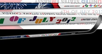 Composite Full Size hockey sticks personalized for your team